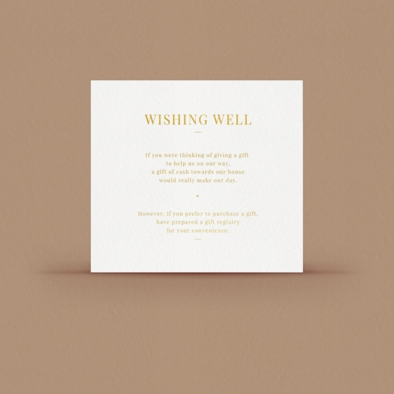 Gold/ Silver Ink or Black Wishing Well Card - Wishing Well/Gift Registry - WPWD-IG - 178729