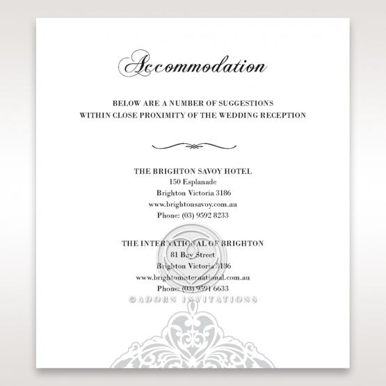 An Elegant Beginning wedding accommodation enclosure invite card