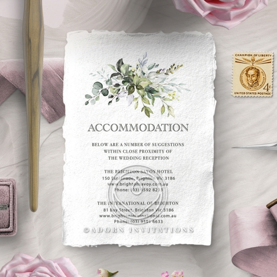 Beautiful Devotion accommodation enclosure card design