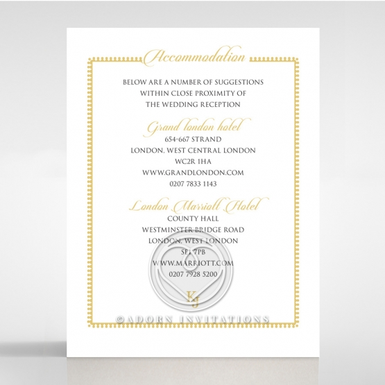 Blooming Charm wedding accommodation invitation
