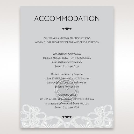 Charming Rustic Laser Cut Wrap accommodation wedding invite card