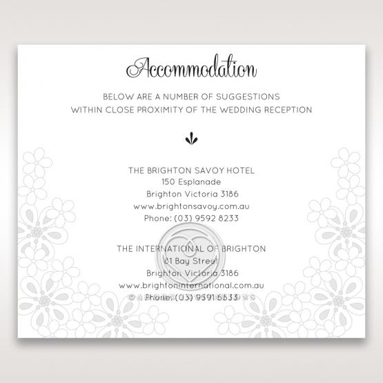 Floral Cluster accommodation enclosure stationery card design