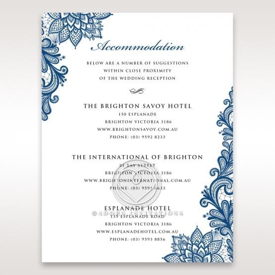 Noble Elegance wedding accommodation invite card