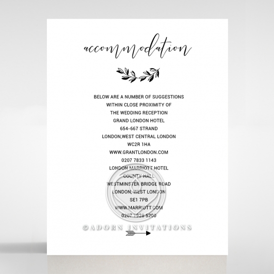 Paper Chic Rustic wedding stationery accommodation enclosure card