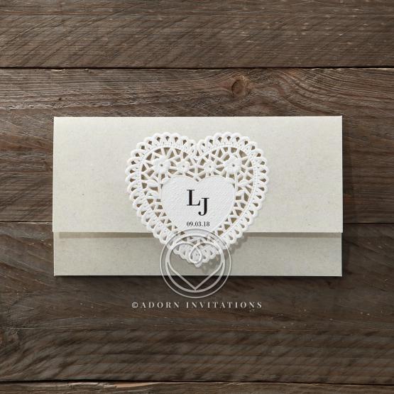 Letters of love anniversary party invite design