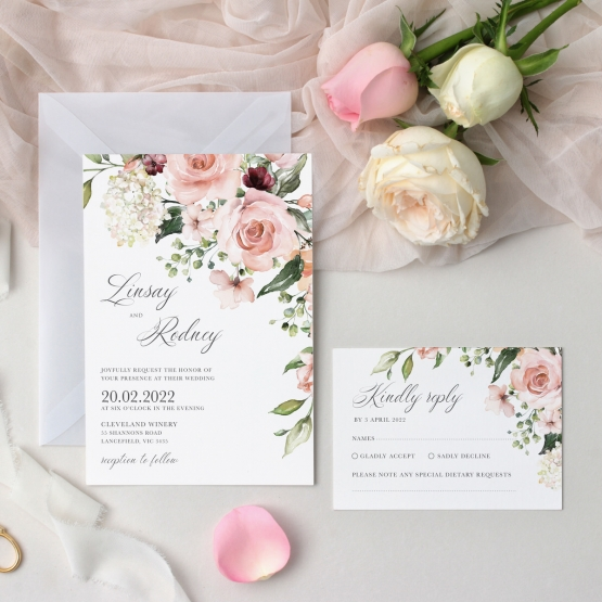 Romantic Flowers - Wedding Invitations - GI-KI300-CP-09 - 178917