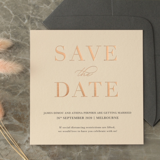 Blush and White Foiled Save the Date - Wedding Invitations - WP-CR14-SD-RG - 178847