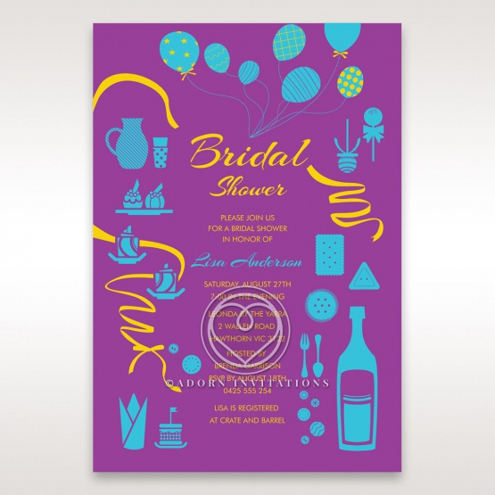 Open the Bubbly bridal shower invitation card