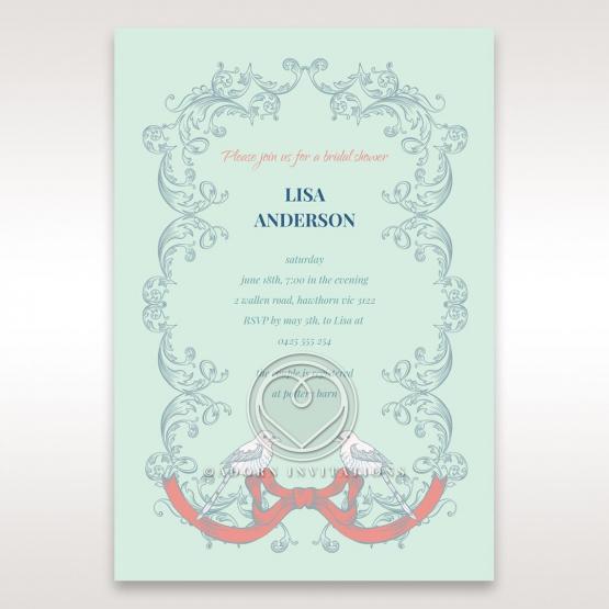 Two Turtle Doves bridal shower invitation