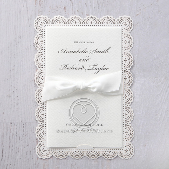 Intricate Vintage Lace engagement party invite
