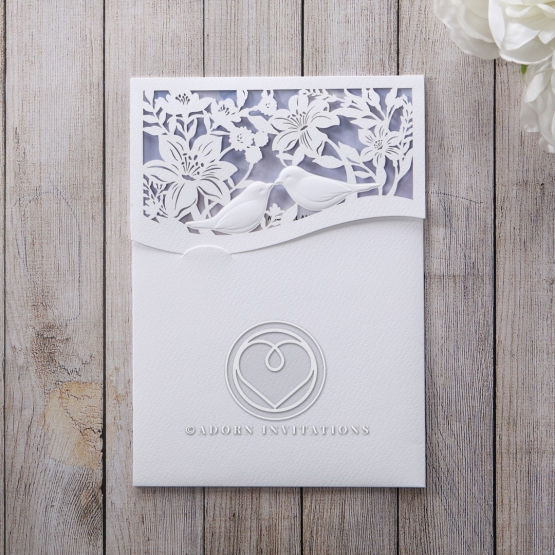 Mythical Garden Laser Cut Pocket engagement party card