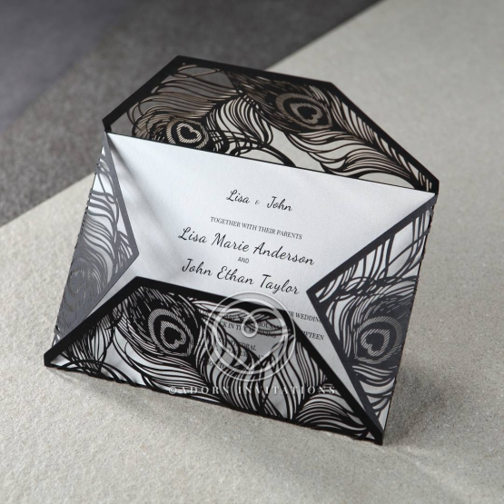 stylish-laser-cut-peacock-feather-black-engagement-invitation-card-HB13575-E