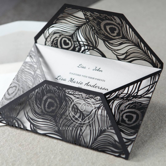 stylish-laser-cut-peacock-feather-black-engagement-party-card-design-HB13575-E