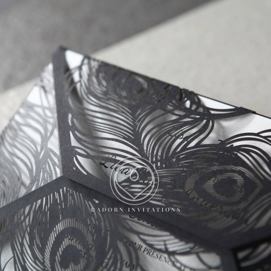 stylish-laser-cut-peacock-feather-black-engagement-party-invite-HB13575-E