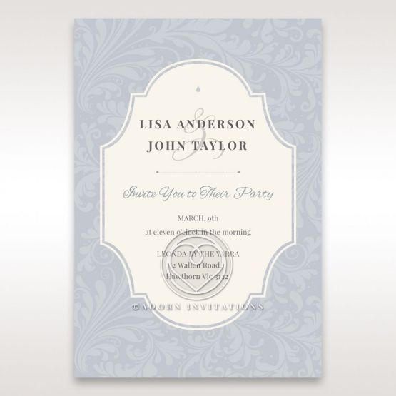 Venetian Affair engagement invitation