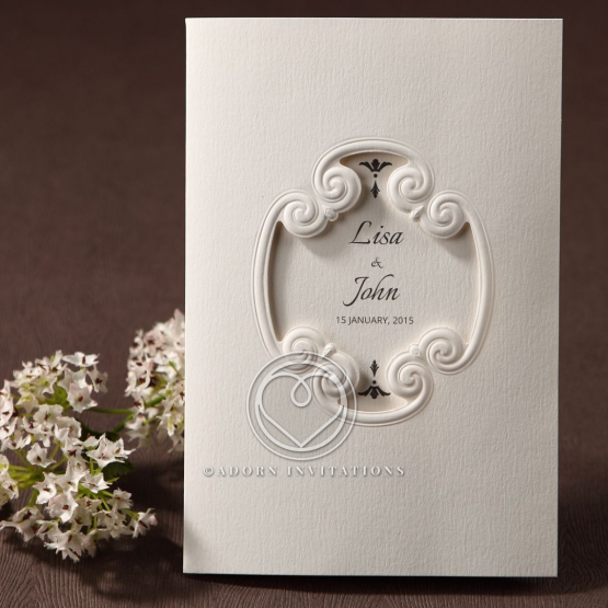 Vintage Elegance engagement invitation card