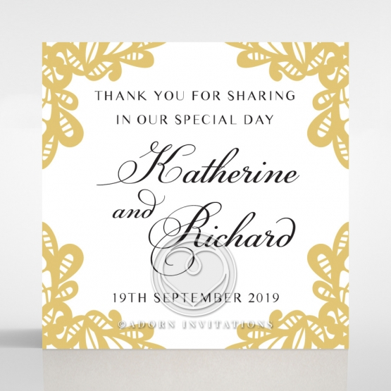 Charming Lace Frame wedding gift tag stationery design