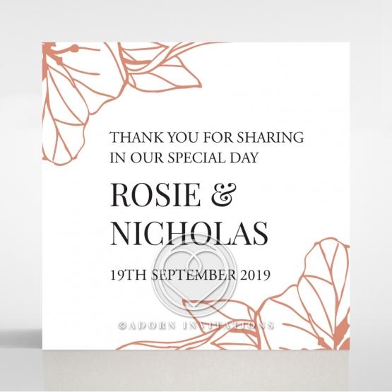 Grand Flora wedding stationery gift tag design