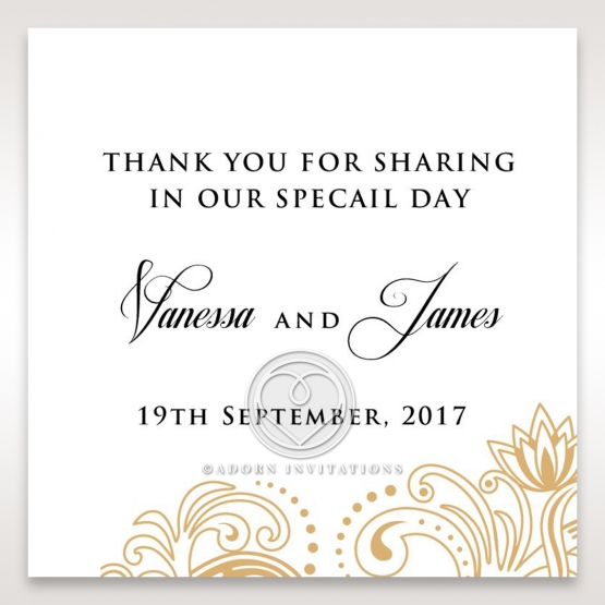 Imperial Glamour without Foil wedding stationery gift tag item