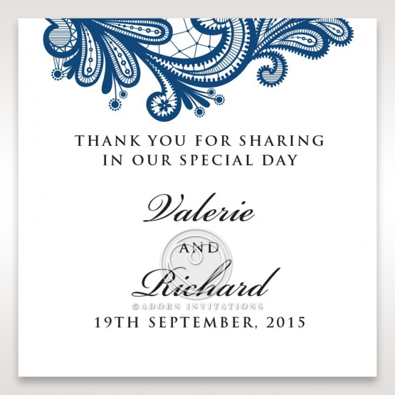 Noble Elegance wedding stationery gift tag