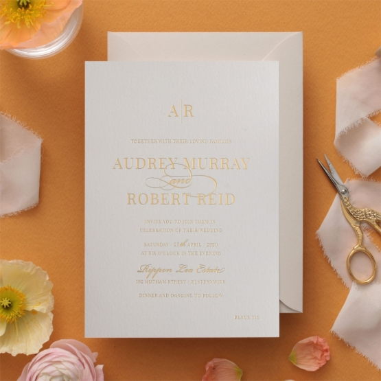 Graceful Elegance - Foil Stamped Card - Wedding Invitations - WP300GG - 178234