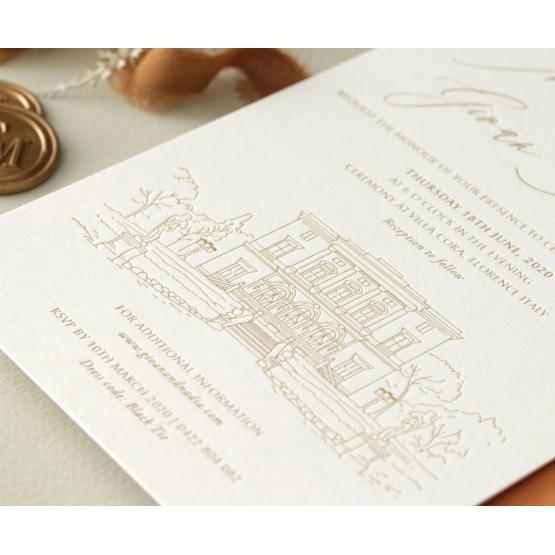 letterpressed_elegance_timeless_gold_castle_invite