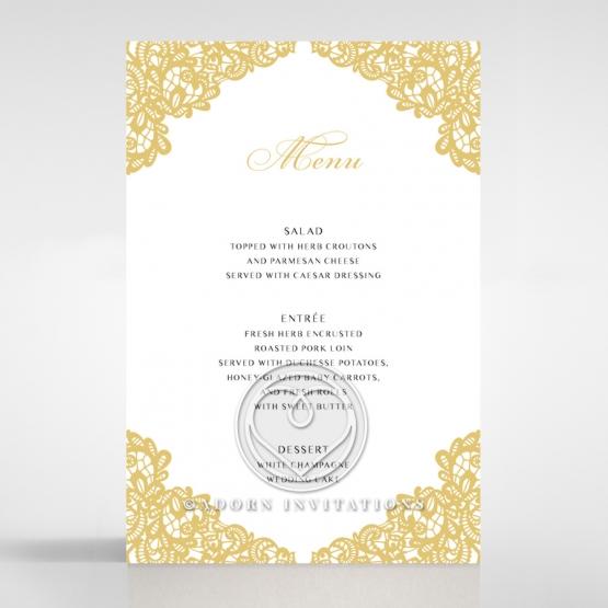 Charming Lace Frame wedding reception table menu card stationery item