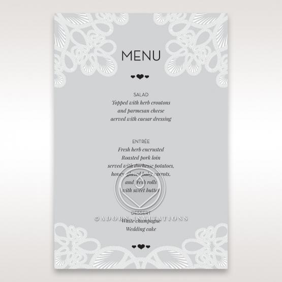 Charming Rustic Laser Cut Wrap table menu card stationery item