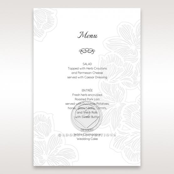 Floral Laser Cut Elegance menu card design
