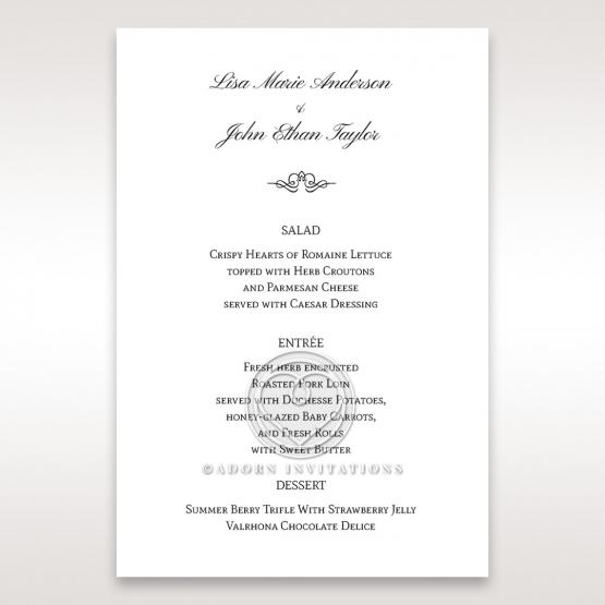 Fragrance menu card design
