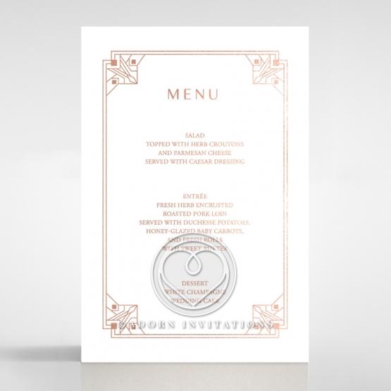 Gatsby Glamour wedding menu card stationery item