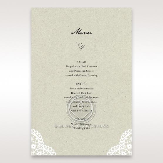 Letters of love wedding menu card stationery item