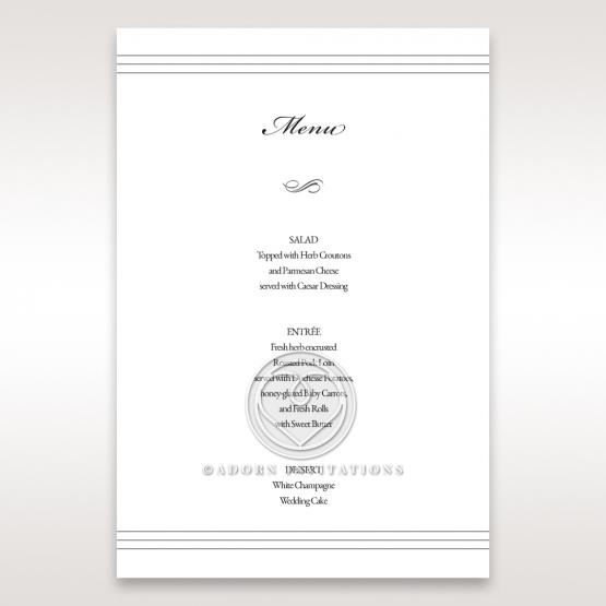Marital Harmony wedding stationery table menu card