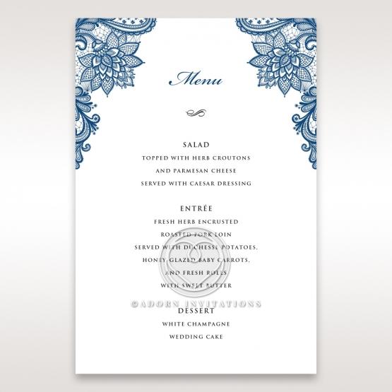 Noble Elegance menu card