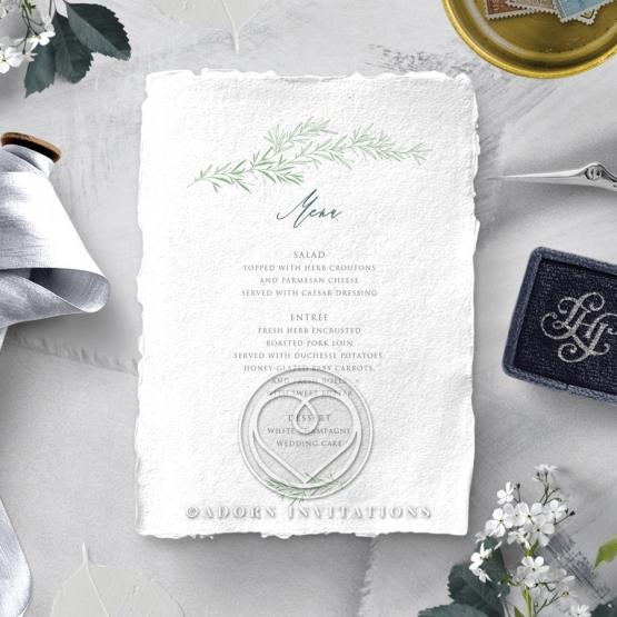 Simple Elegance wedding table menu card design