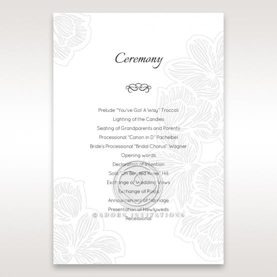 Floral Laser Cut Elegance order of service stationery