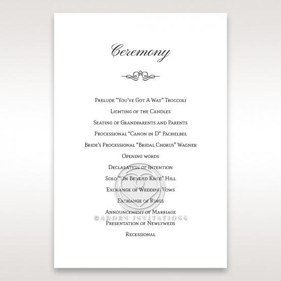 Fragrance order of service card design