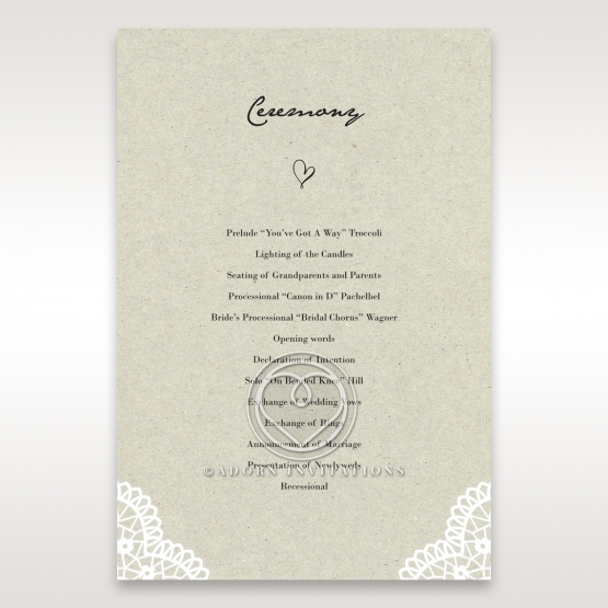 Letters of love wedding stationery order of service invitation card
