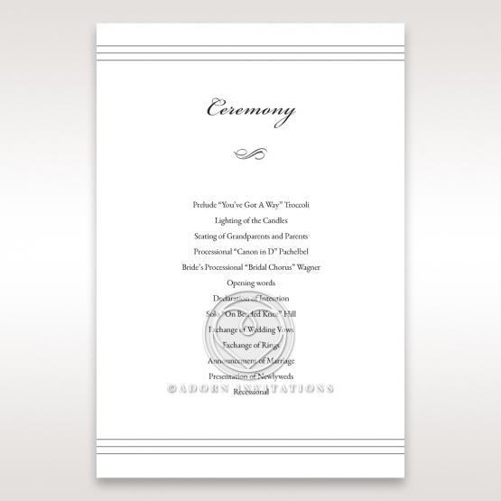 Marital Harmony order of service invite card
