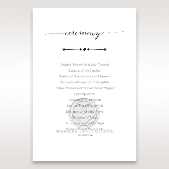 Simply Rustic order of service card