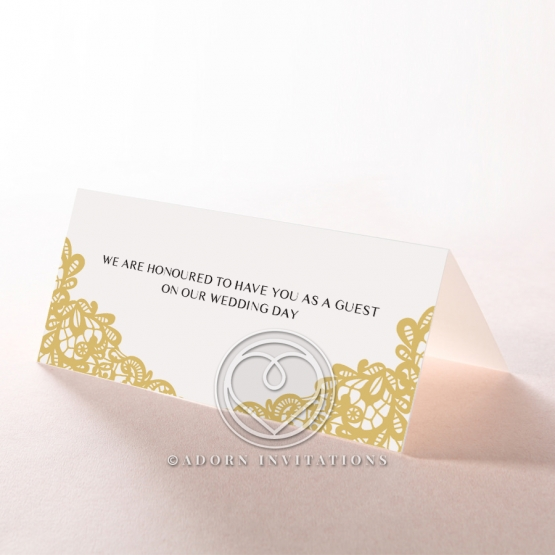 Charming Lace Frame wedding stationery place card design