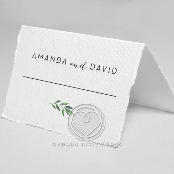 Country Garland wedding venue table place card design