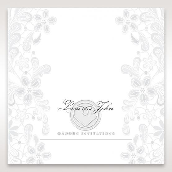 Enchanting Ivory Laser Cut Floral Wrap wedding reception place card stationery item
