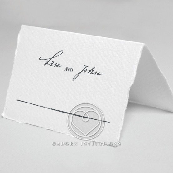 Everlasting Devotion wedding venue place card stationery design