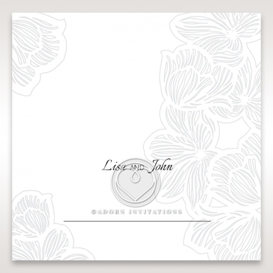 Floral Laser Cut Elegance reception table place card stationery design