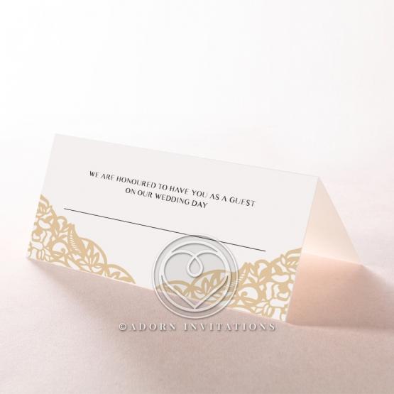 Golden Floral Lux wedding venue table place card