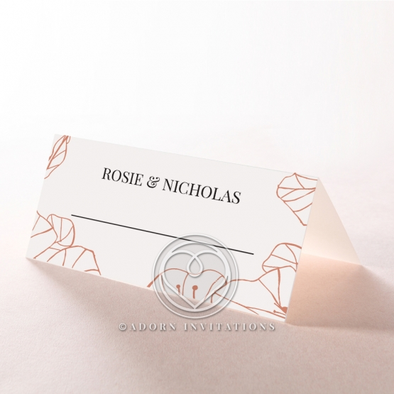 Grand Flora wedding venue place card stationery design