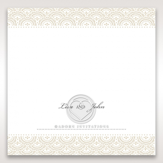 Intricate Vintage Lace reception table place card