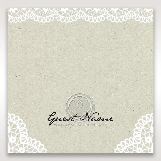 Letters of love wedding venue table place card design