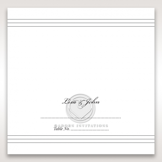 Marital Harmony wedding reception place card